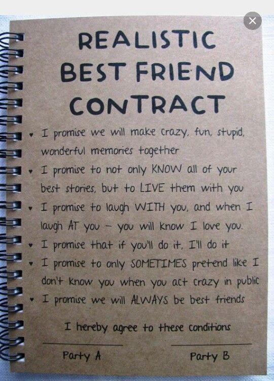 Best Friend Diy Notebook