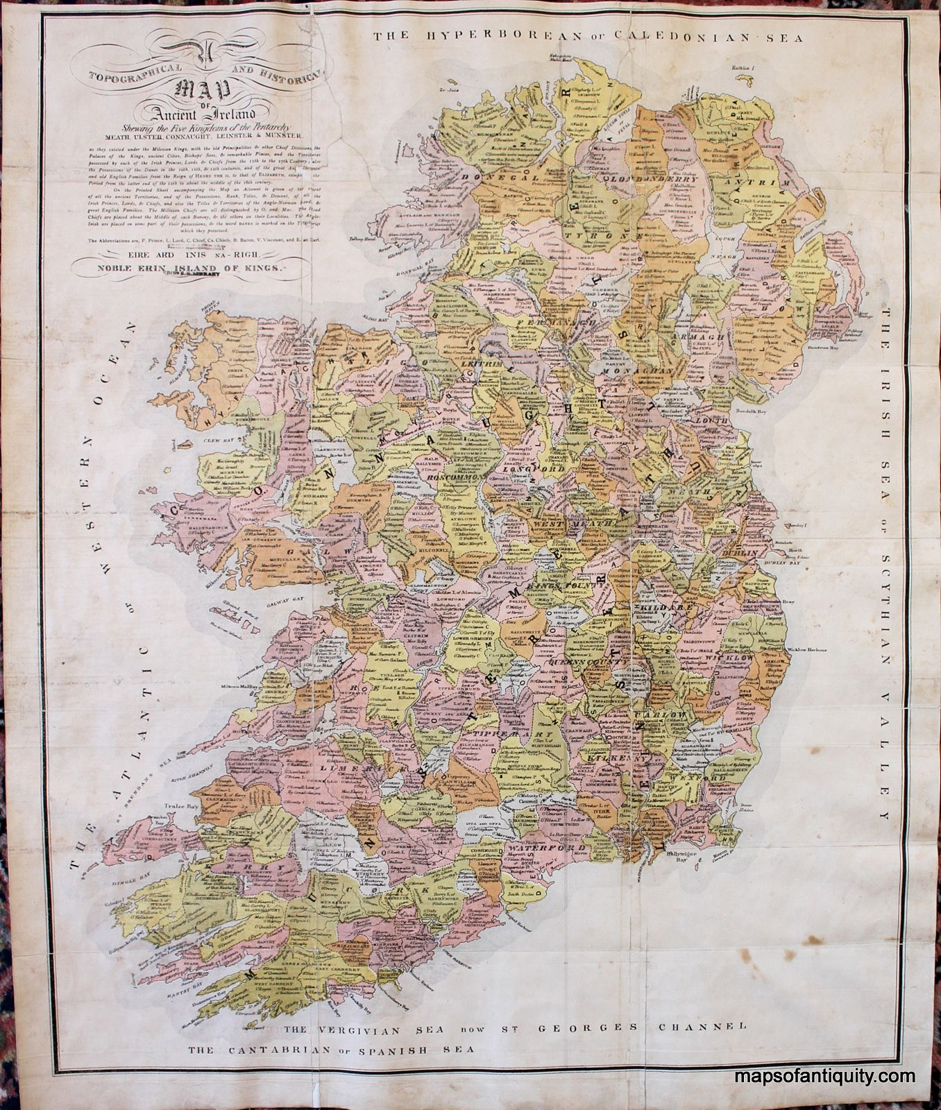 High Quality Map Of Ireland.Interesting Clan Map Of Ireland Showing Counties And Regions