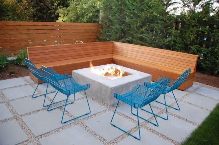 Moderne Gartengestaltung Mit Stein Garten Gestalten Vorgarten ... Garten Mit Patio Gestalten