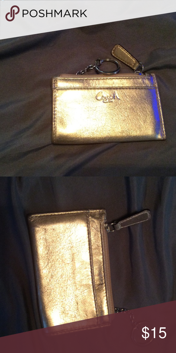 Gold coach change purse Gold coach change purse Coach Bags Wallets