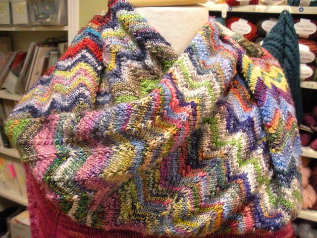 Ravelry: Missoni Falls Cowl pattern by Jenny Nashmi