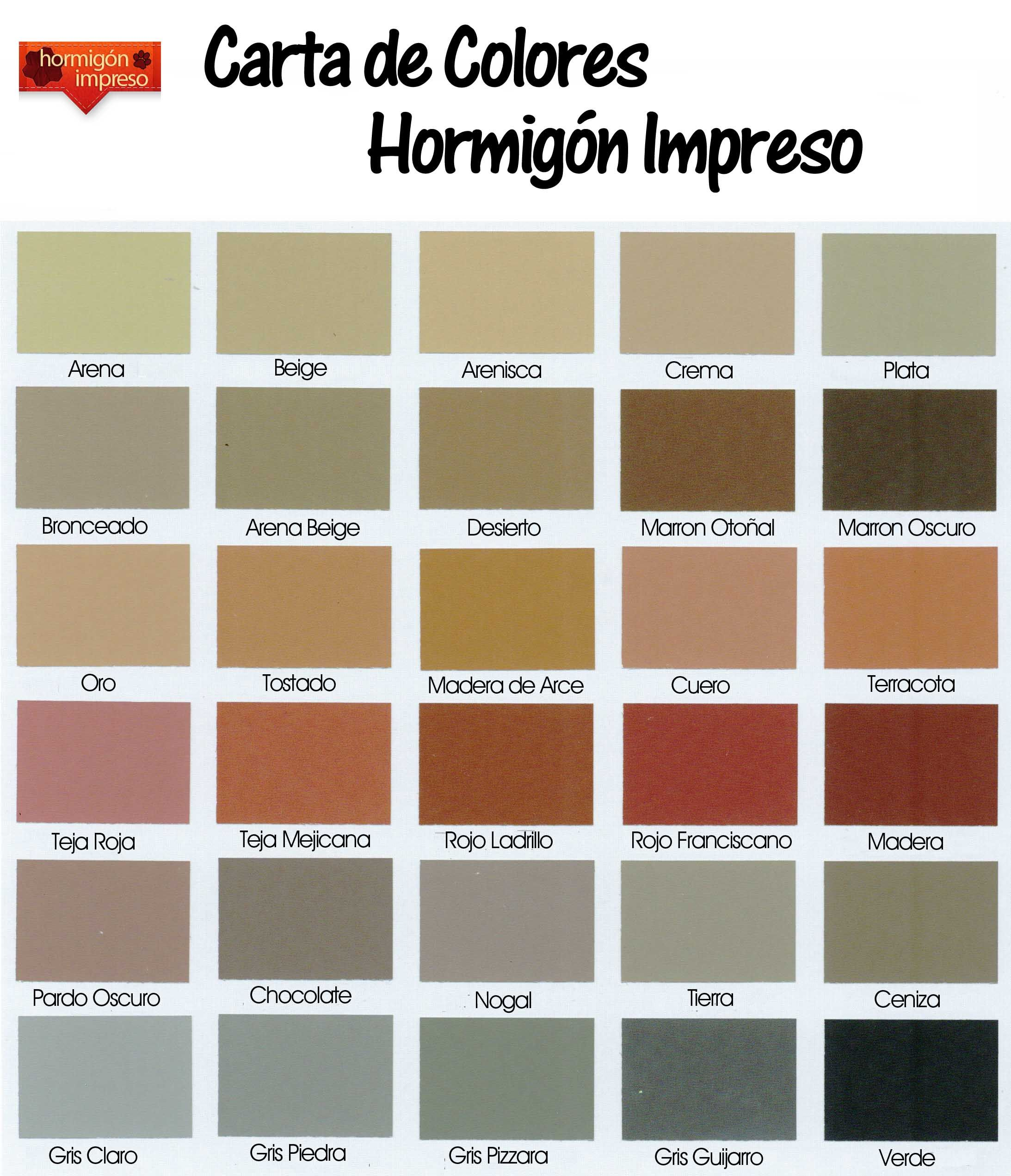 Carta De Colores Hormigon Impreso Courtyard Pinterest Carta  ~ Catalogo De Pinturas Para Paredes