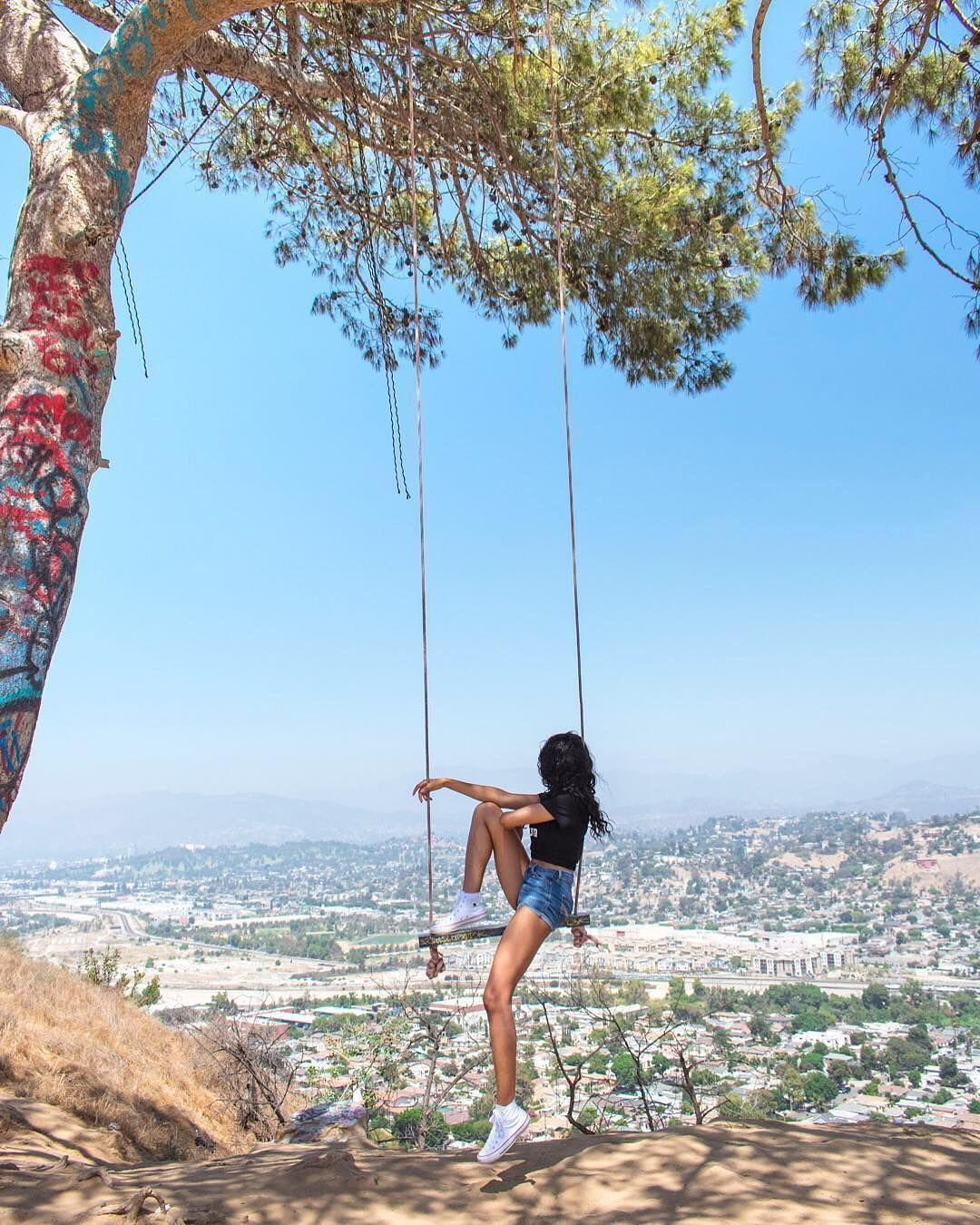 ", LA Bucket List 🌴 on Instagram: ""Tag who you'd swing with? 🌳🏙 One of the coolest views in the whole city – 📸:@theawkwardtraveller"", My Travels Blog 2020, My Travels Blog 2020"