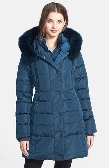 1 Madison Genuine Fox Fur Trim Down Coat (Online Only) available at #Nordstrom