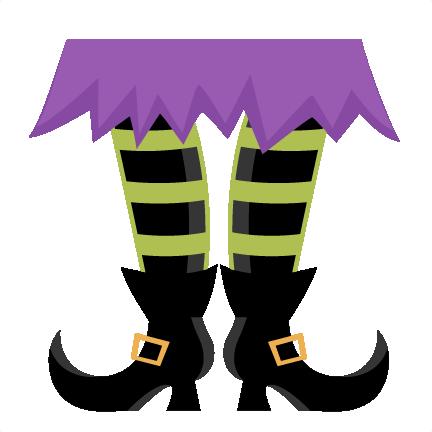 daily freebie miss kate cuttables witch feet svg scrapbook title svg cutting files crow svg cut file halloween cute files for cricut cute cut files free - Cute Halloween Witches