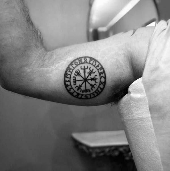 70 Viking Compass Tattoo Designs For Men Vegvisir Ink Ideas