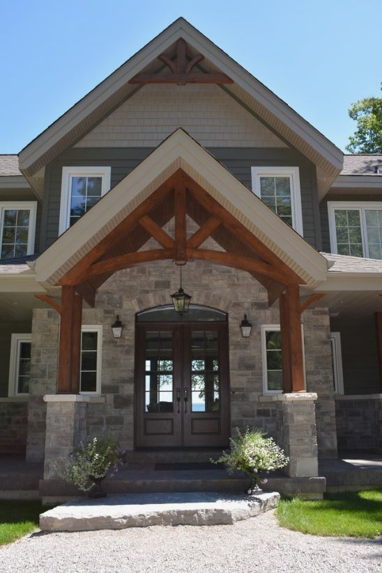 Exterior Of Mudroom Addition In Portland Oregon I Love The Porch: Craftsman Exterior, House Exterior, Craftsman Front Doors