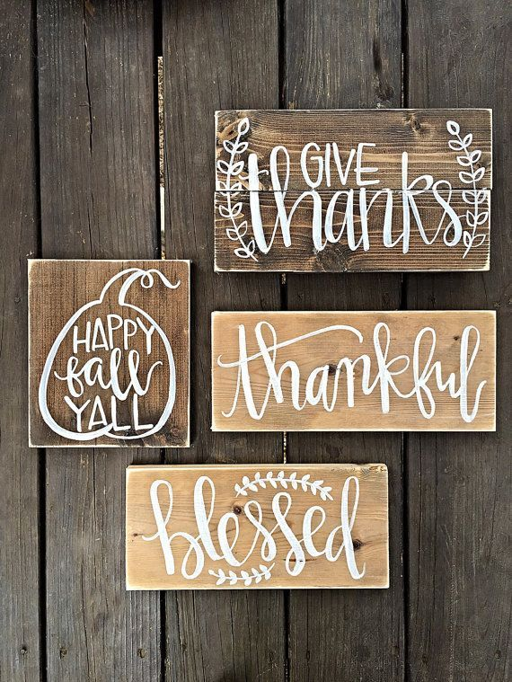 Fall Signs Gather Sign Blessed Sign Happy By