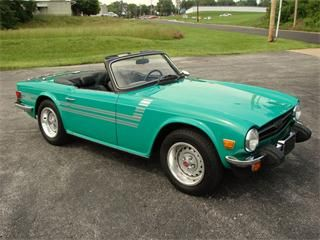 1976 Triumph TR6.  Great car ... one of the last sports cars with a separate chassis.  Had one a while ago ... wish I still had it!