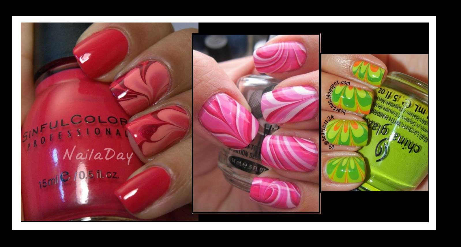 DIY: Πώς να κάνεις σχέδια με νερό στα νύχια σου! Amazing Nails art ...
