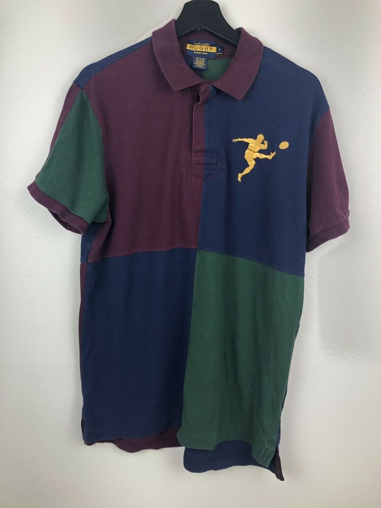 Polo Ralph Lauren Rugby Polo Shirt Size L Free Shipping Ebay Polo Ralph Lauren Polo Shirt Vintage Clothes 90s