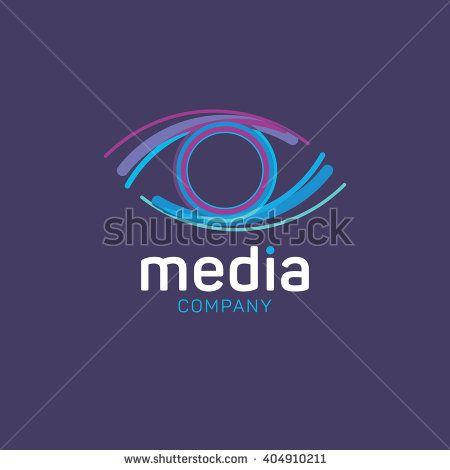Eye logo. Media logo. Creative agency logo. Vision logo