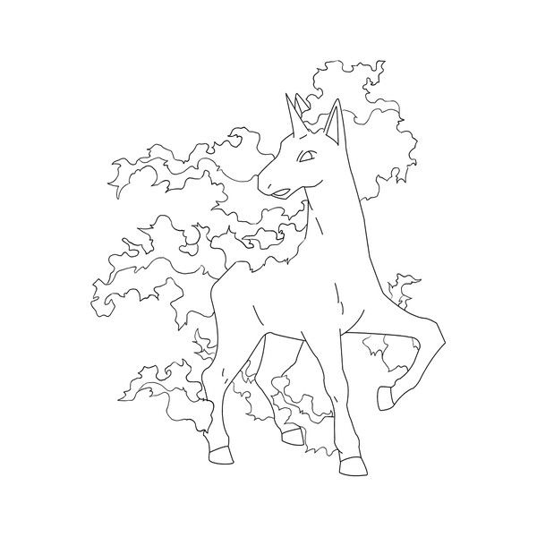 Free Rapidash Lineart For Anyone To Use I Dont Own