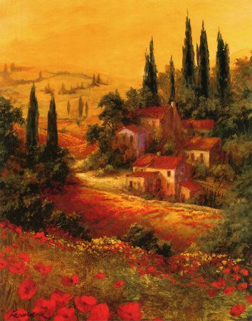 Toscano Valley Iby Art Fronckowiak My Mom S Office