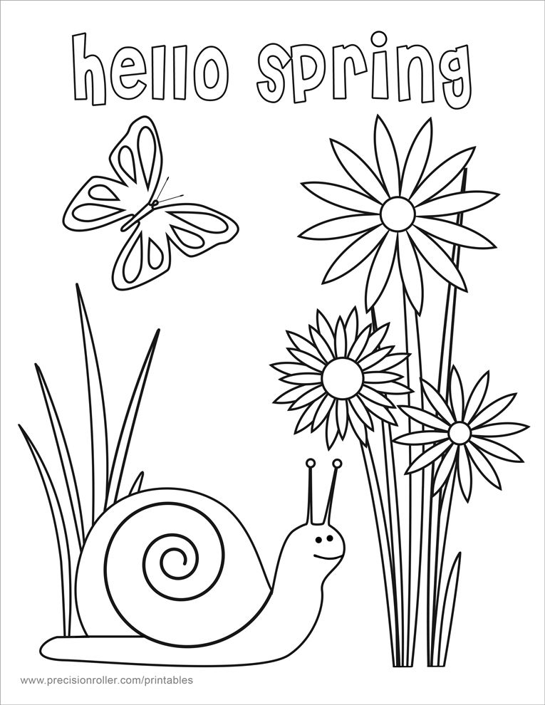 Hello Spring Coloring Page Spring Coloring Sheets Spring Coloring Pages Kindergarten Coloring Pages