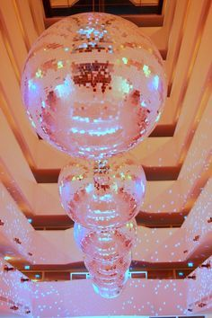 so many disco balls!                                                                                                                                                                                 More