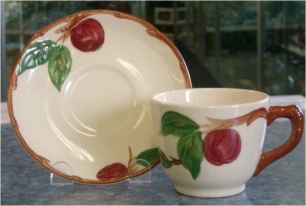 Apple Cup and Saucer Franciscan