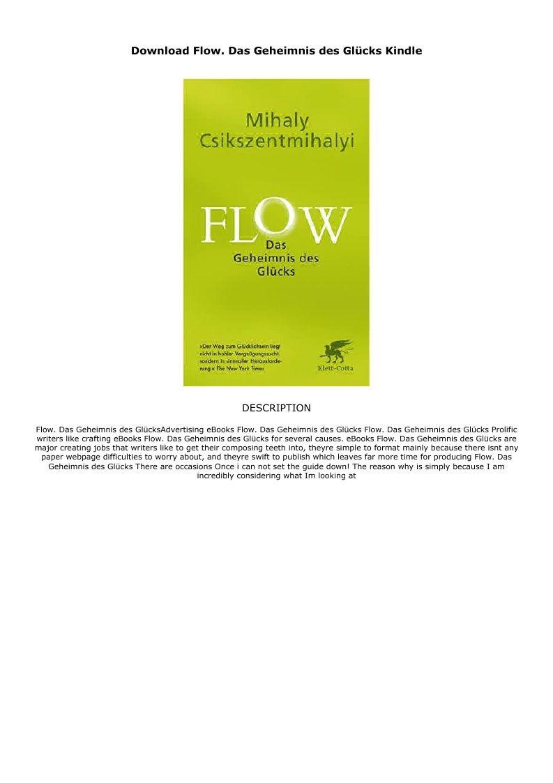 Download Flow Das Geheimnis Des Glucks Kindle Ebook Pdf Download Audiobook Epub Ebook Lockscreen