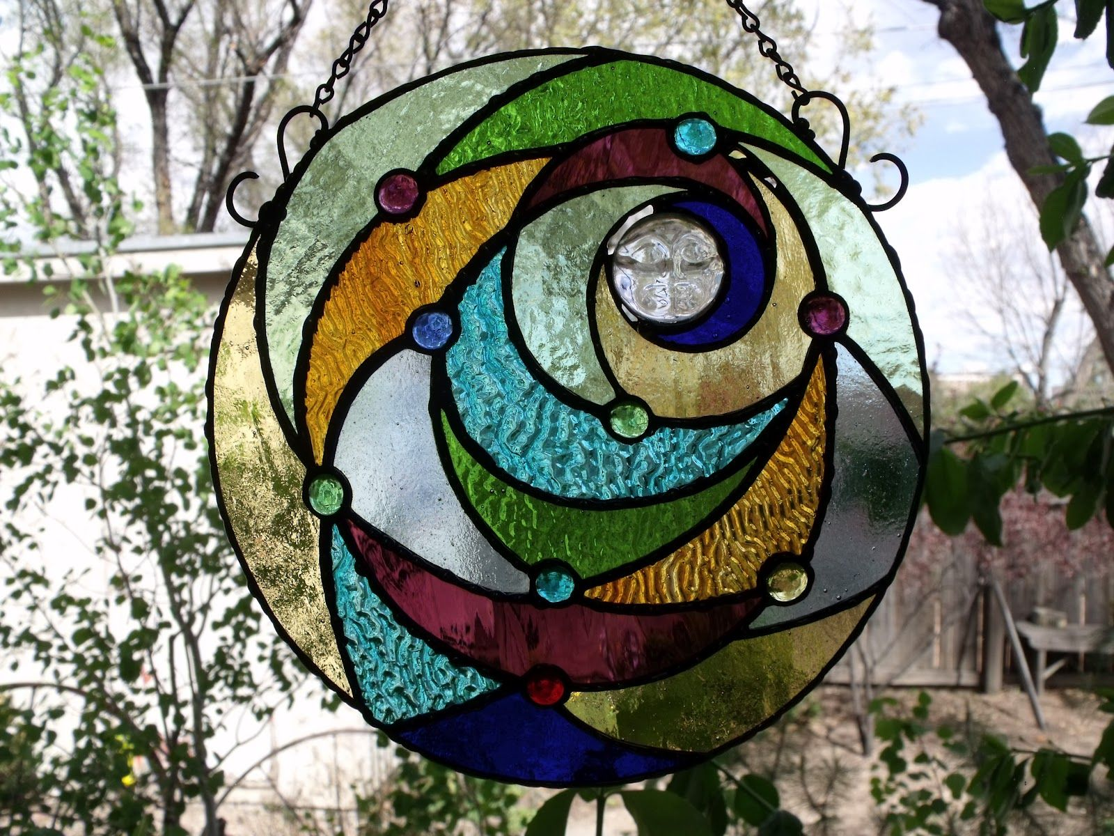 Howling Moon Stained Glass Pattern   Yahoo Image Search