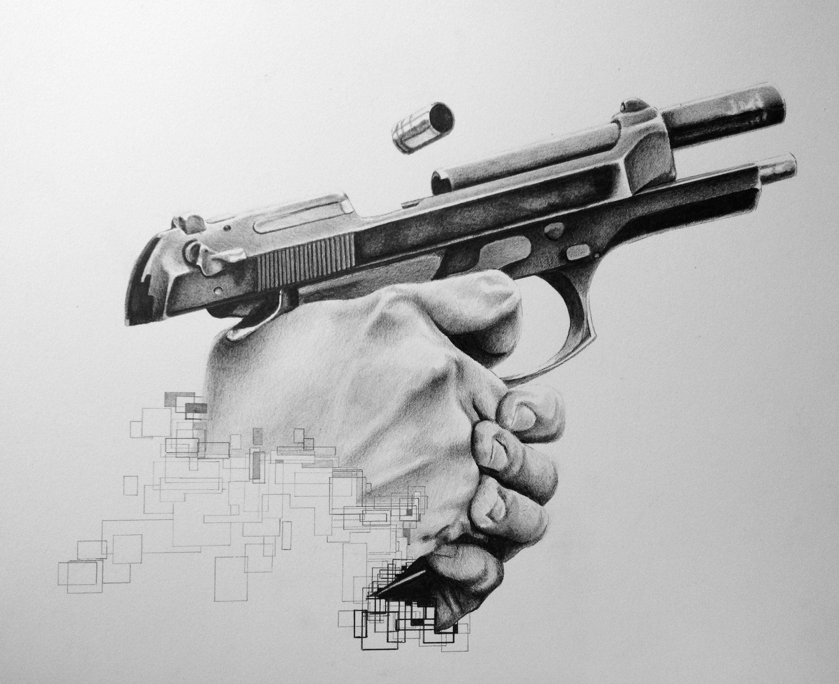 Gun Drawing In Pencil | www.pixshark.com - Images ...