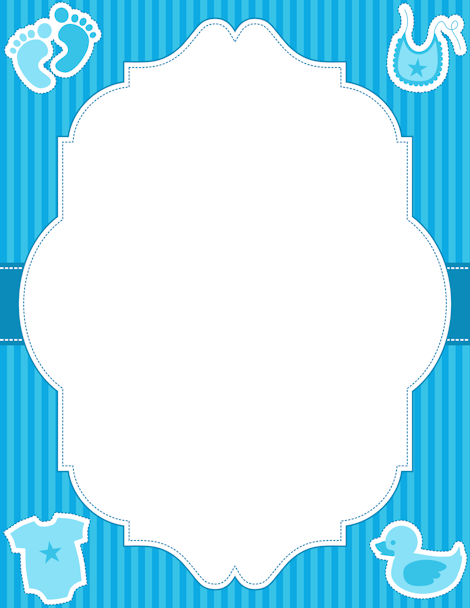 free printable baby boy borders for paper