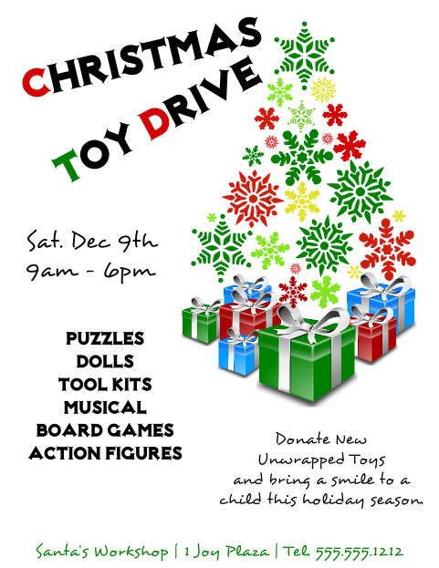 Toy Drive Flyer bycaseyrenae – Can Food Drive Flyer Template
