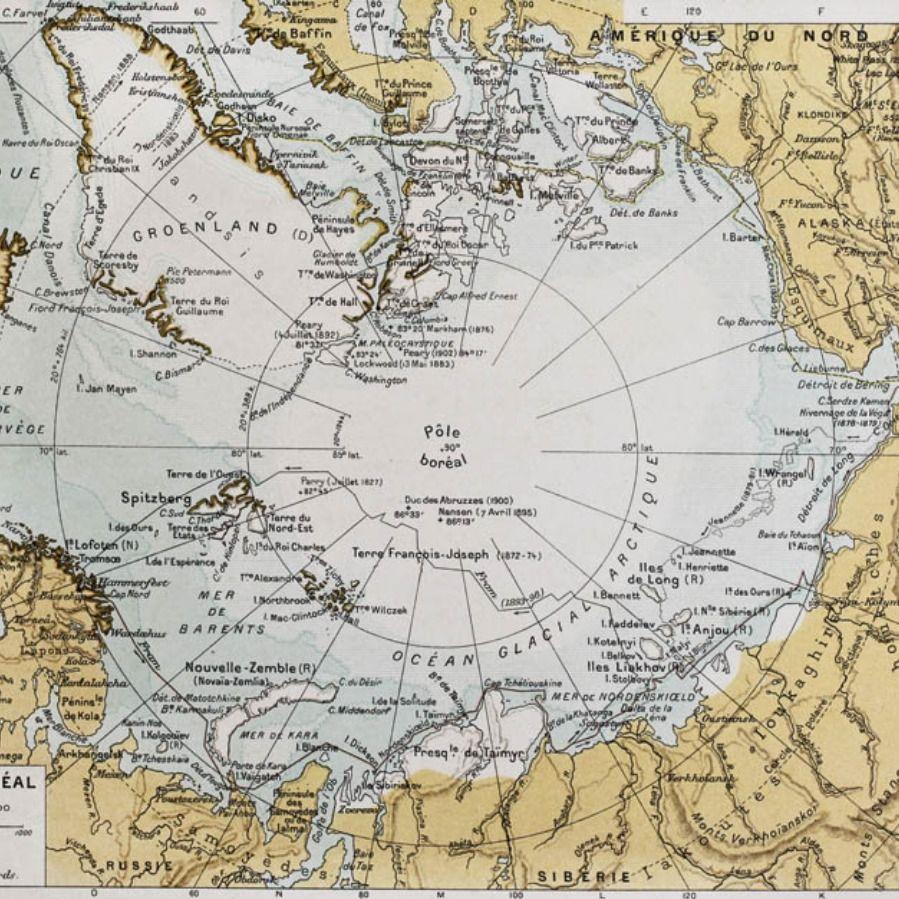 Cartina Nord.290 Polo Nord Mappa Carta Da Parati Polo Nord