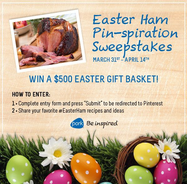 Easter ham pin spiration sweepstakes march 31 april 14th enter to easter ham pin spiration sweepstakes march 31 april 14th enter to win a negle Gallery