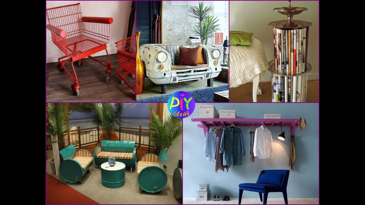 40+ DIY Unique Furniture Ideas Using Recycled Materials and Old ...