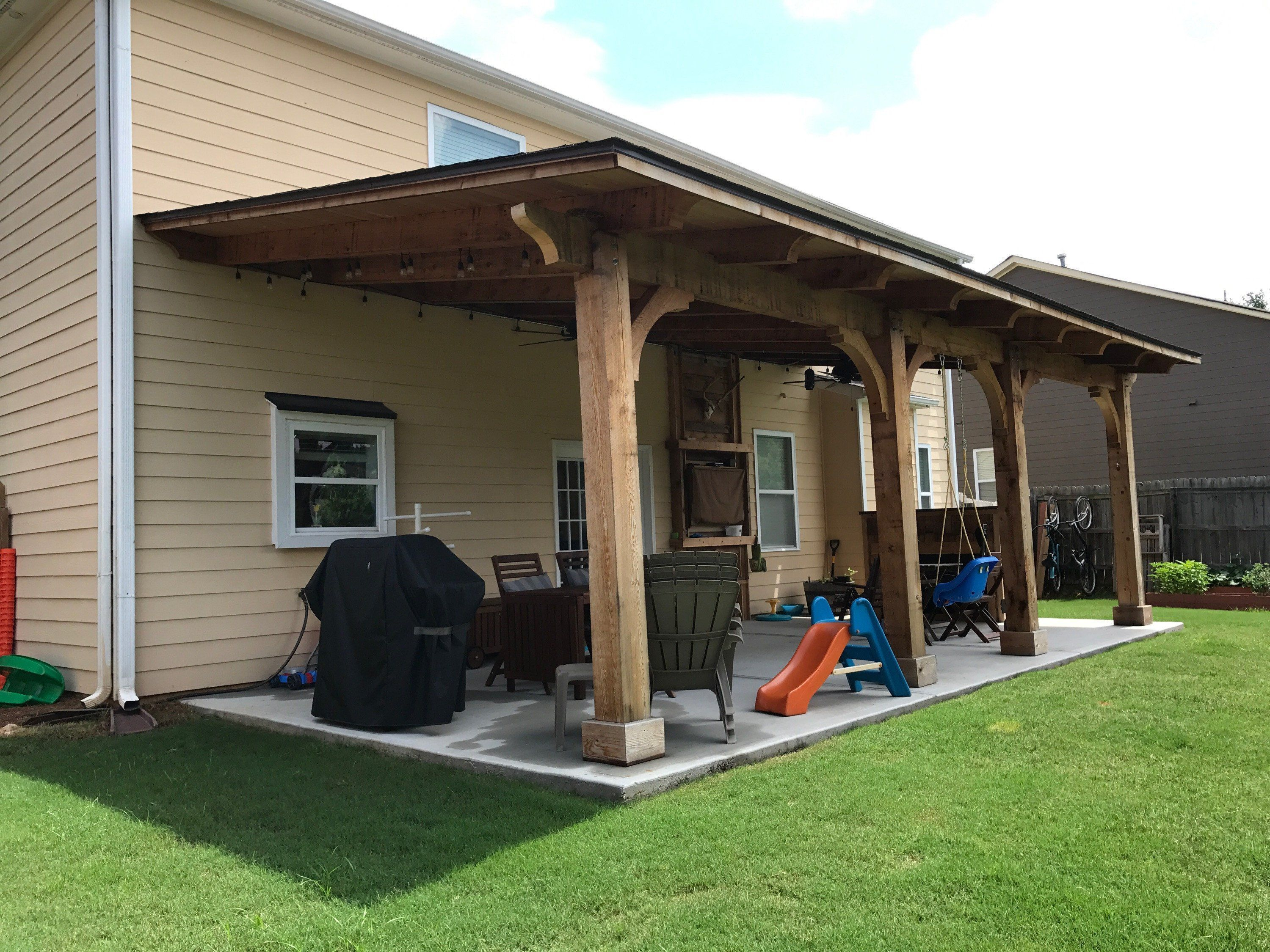 Let Lcg Customs Make Your Outdoor Space More Useable Rain Or Shine Roofing Not Included Recommended To Use Shingle Patio Design Outdoor Pergola Pergola Patio