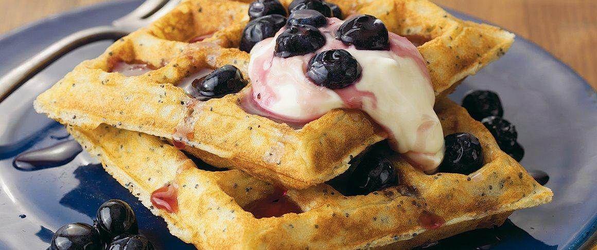 Lemonpoppy seed belgian waffles recipe waffle recipes