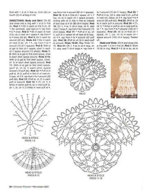 Knitting - Meeting: Crochet Christmas ornament - Crochet Treetop ...