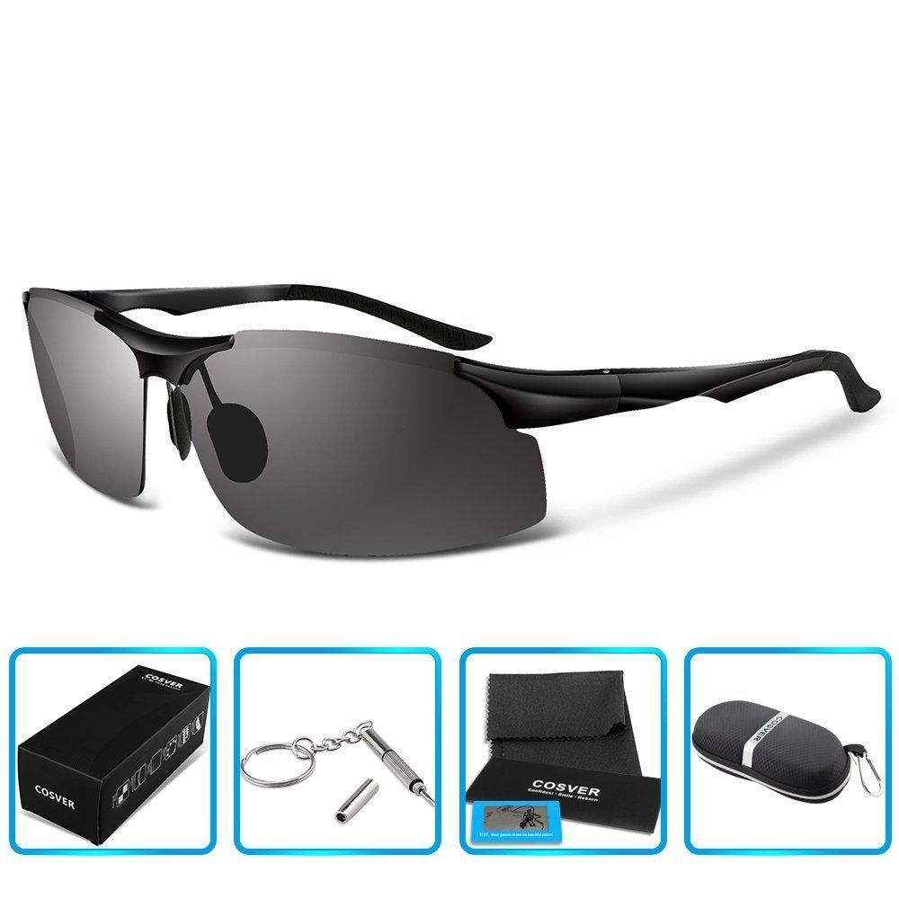 Men's Sports Style Polarized Sunglasses for Driving