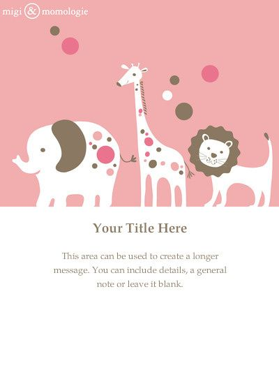 Pink+Animals+designed+by+MiGi+\+Momologie+on+Celebrations - free online baby shower invitations templates