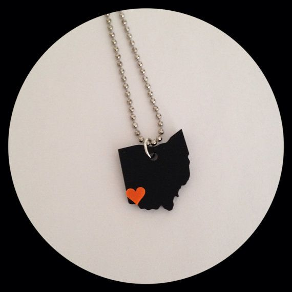 Hey, I found this really awesome Etsy listing at https://www.etsy.com/listing/171028946/ohio-necklace-in-black-acrylic-with