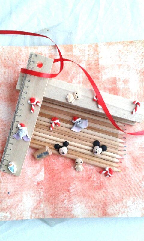 kit in legno matite colorate di fantasiadifimo su Etsy