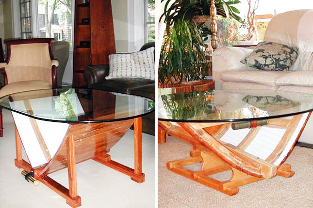 Boat Coffee Table 40 Quirky Coffee Tables Brit Co Inspire