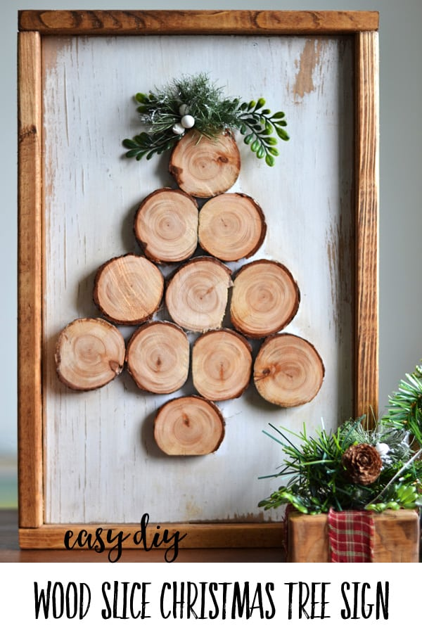 Photo of Easy DIY Wood Slice Christmas Tree Sign | Harbour Breeze Home