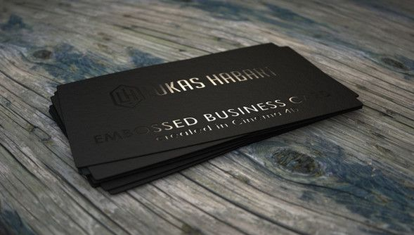 Ink embossing card business cards pinterest business cards 30 cool samples of embossed business cards designscrazed colourmoves