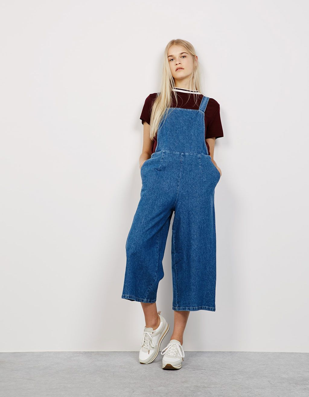 b1fa29168f Denim culotte dungarees. Discover this and many more items in Bershka with  new products every week