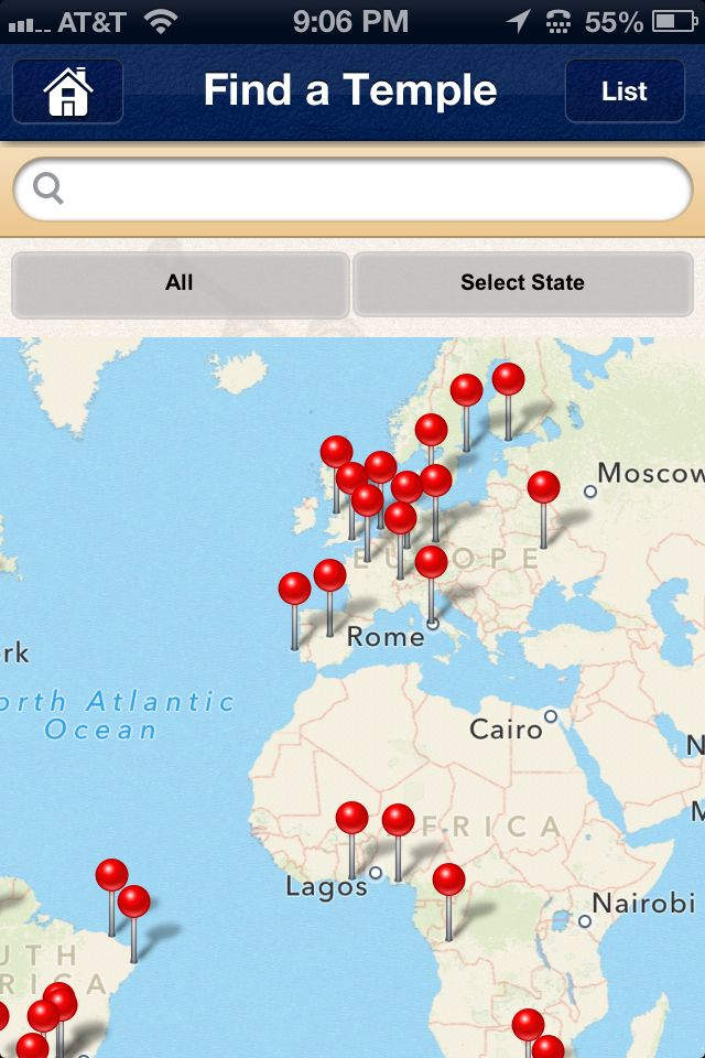 Map Of Arizona Lds Temples.Lds Temples Around The World In A Sweet Map View Format Each Pin