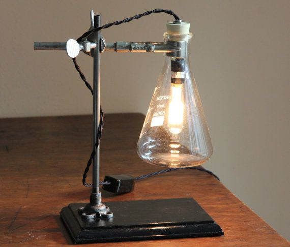 science gift chemistry industrial desk lamp steampunk table light cool laboratory biology. Black Bedroom Furniture Sets. Home Design Ideas