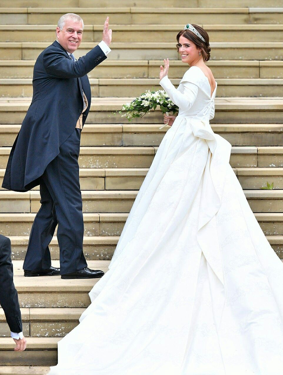 The Dress S Low Back Was A Specific Request From Princess Eugenie Who Wanted It To Show The Scar On He Royal Wedding Dress Royal Wedding Gowns Eugenie Wedding [ 1273 x 962 Pixel ]