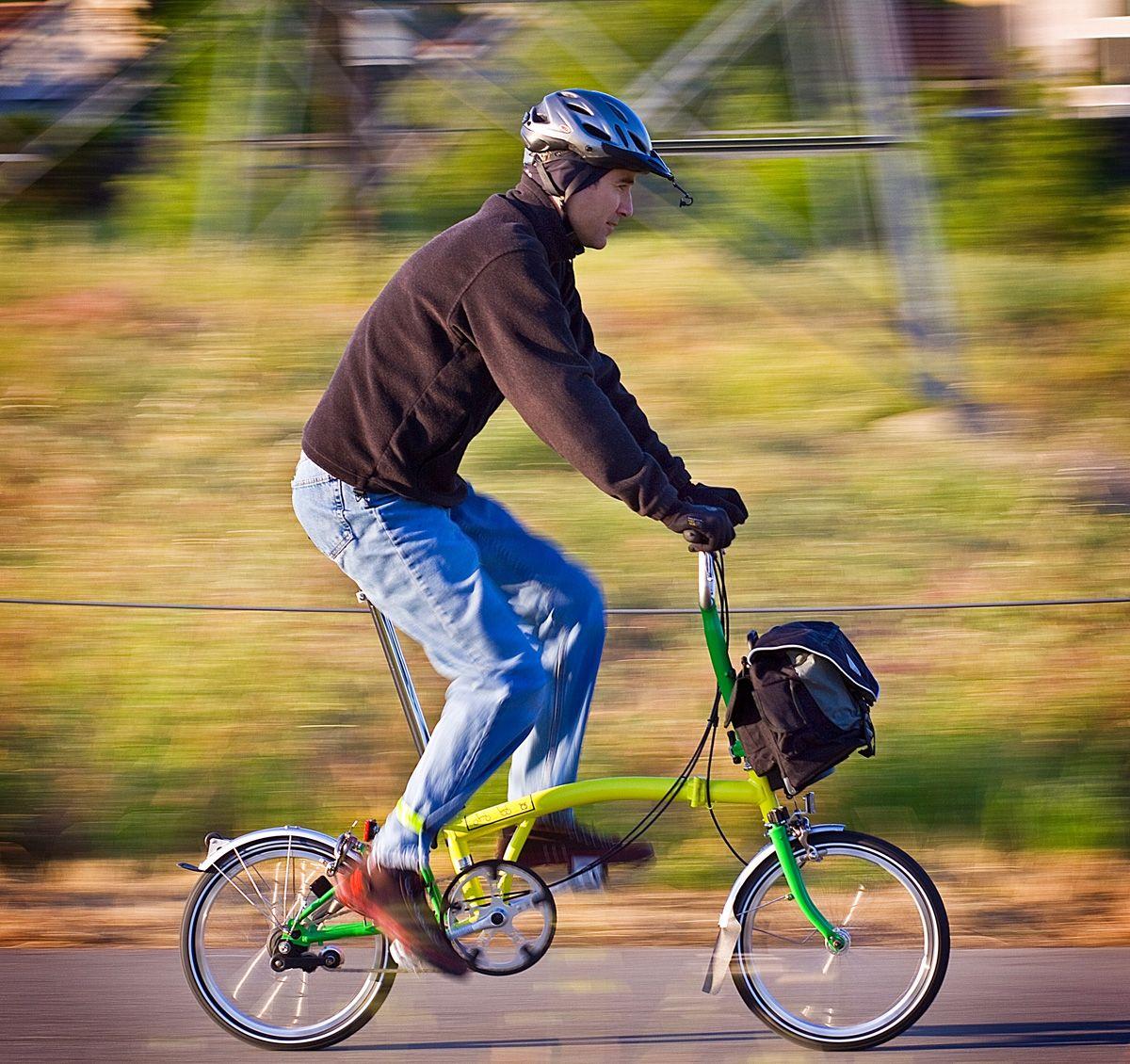 Student Riding Brompton Google Search Brompton Bike Style