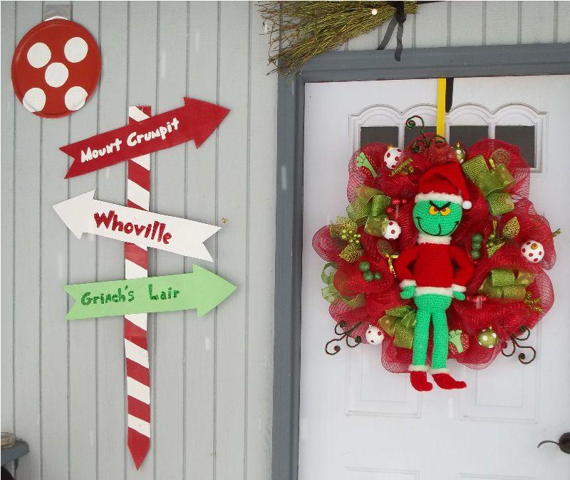 Grinch front door decorations