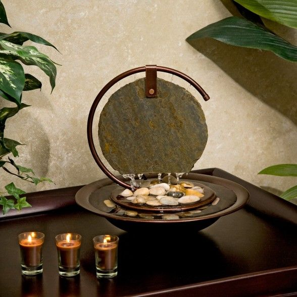 Garden Stunning Japanese Water Fountain Design Ideas Trendy Japanese Water Fountain Design For Indoor Combine With Round Brass Bowl And Natural Funktionalism