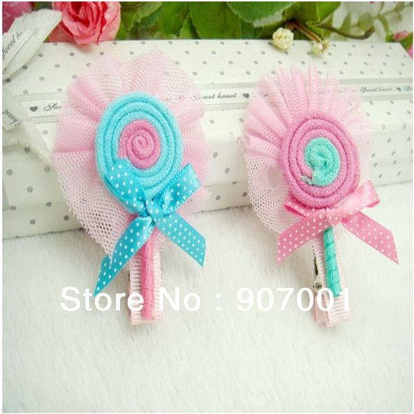 Child Hair Accessory Hair Accessory Baby Hair Clips Hair pin Popular Candy Color Small Laciness Card XM-116 $1.99