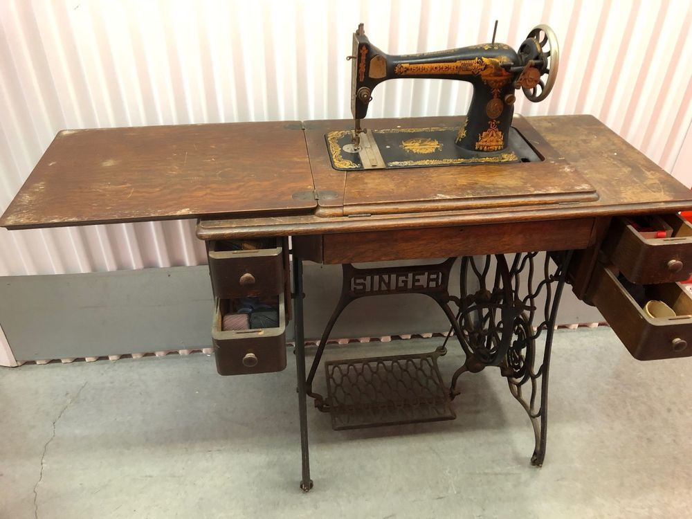 Antique Singer 40 Treadle Sewing Machine Antiques Pinterest Amazing 1921 Singer Sewing Machine