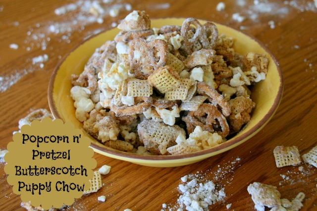 Popcorn N Pretzel Butterscotch Puppy Chow With Images Puppy Chow