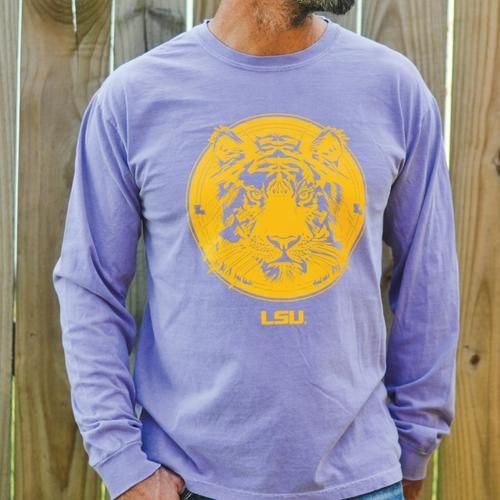 SFT LSU Tiger Comfort Colors Long Sleeve | SWeet Baton Rouge